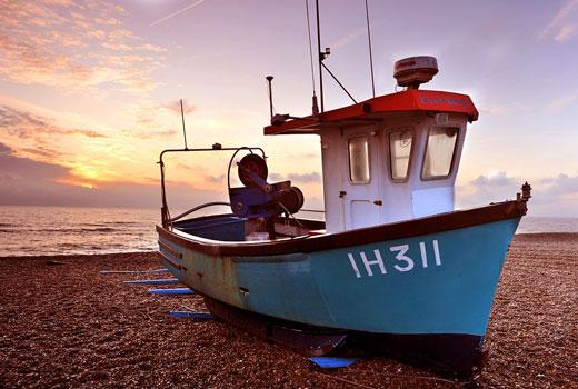 boat, beach, coast, aldeburgh, suffolk