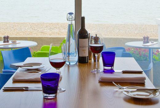 seafood, grill, restaurant, sea view, coast, beach, suffolk, aldeburgh, brudenell hotel